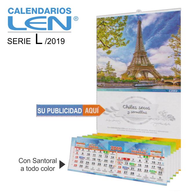 Calendario Santoral 2019.Calendario De Papel Con Varilla Y Santoral De 24 7 X 43 5 Cm Len 2019